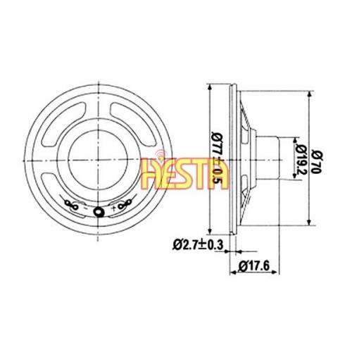 Głośnik fi 77mm do cb ALAN 48/100+/199