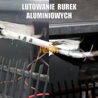 Naprawa lodówek samochodowych - Lutowanie rurek aluminiowych