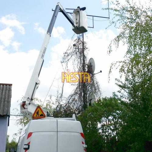 Wynajem zwyżki do montażu, naprawy anten telewizyjnych i radiokomunikacyjnych