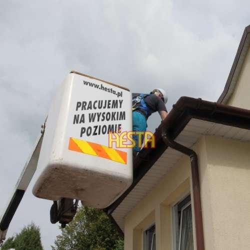 Очистка желоба, обслуживание крыши - аренда автовышки