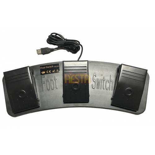 FS-3 USB Triple Foot Switch Pedal – metal