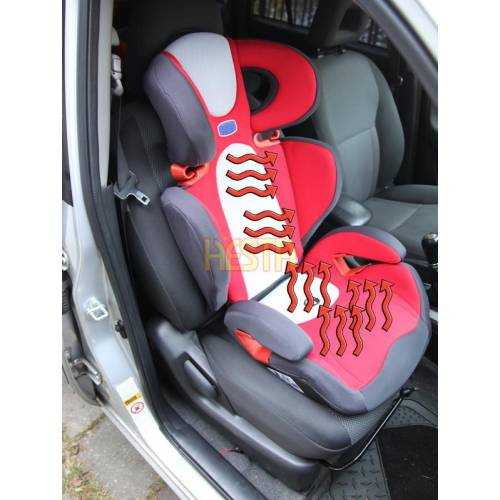 Installation of seat heater, warmer, heating mats in the child car seat