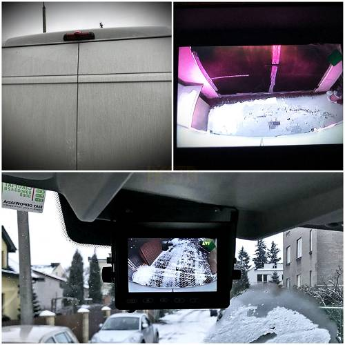 Assembly, service and installation in bus vehicle - car rear reversing camera