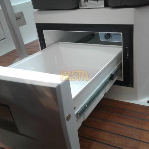 Lodówka jachtowa DOMETIC CoolMatic CD 30 camper szufladowa biała do zabudowy