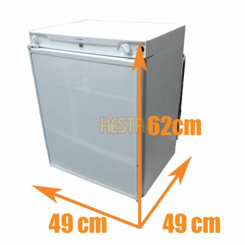 Absorption Freestanding white fridge DOMETIC RF62 12V 230V gas