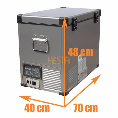 Indel B TB 46 Steel 45L 12V 24V 230V Portable Compressor Fridge