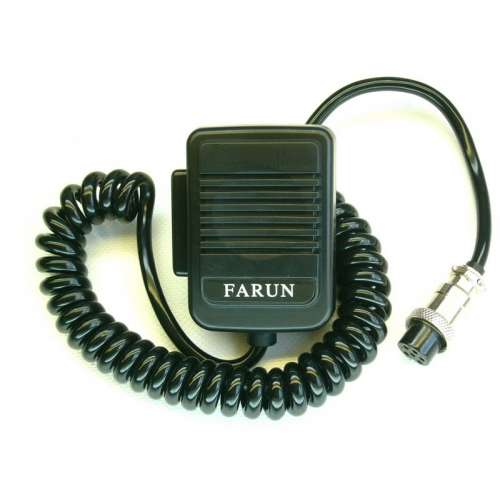 Microphone, mike Farun 6-pin plug. Compatible with CB radio President, Mtech