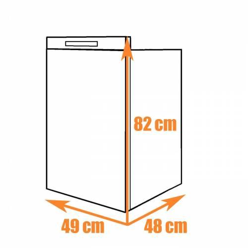 Built-in absorption refrigerator 73L DOMETIC RMV5305 for 12V 230V gas
