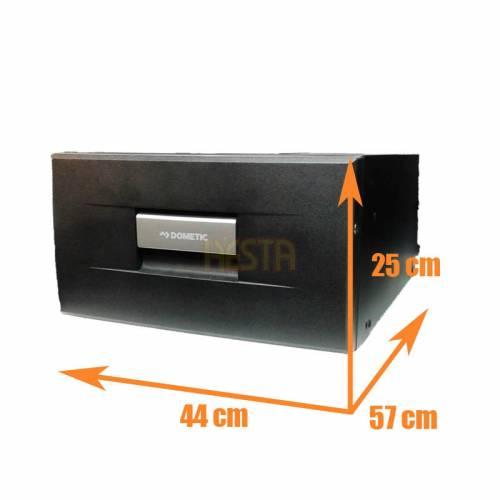Black DOMETIC CoolMatic CD 20 drawer fridge for caravan, yacht