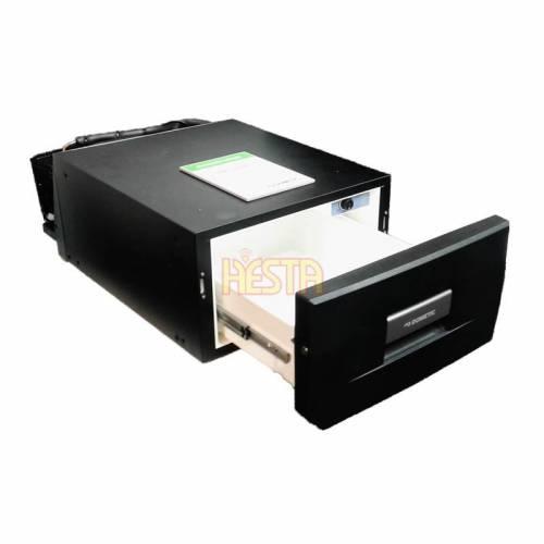 Black DOMETIC CoolMatic CD 30 drawer fridge for caravan, yacht