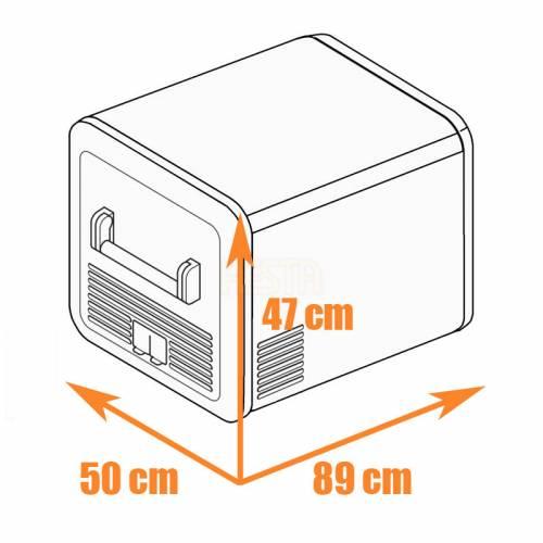 DOMETIC CFX3 75DZ Mobile dual-zone compressor cool box and freezer 12/24/240 V