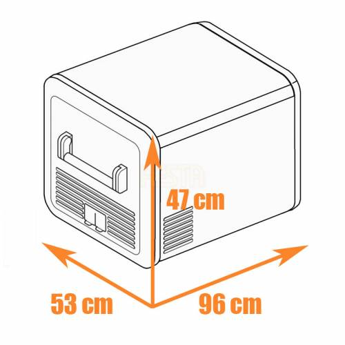 DOMETIC CFX3 95DZ Mobile dual-zone compressor cool box and freezer 12/24/240 V