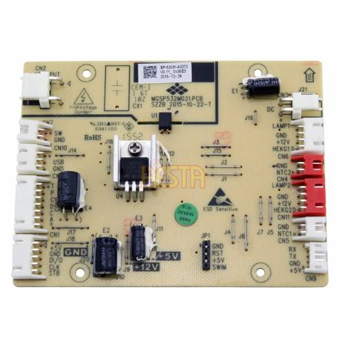 Control board for the Dometic / Waeco CFX 95 DZ, CFX 95 DZ2 refrigerator, Main PCB