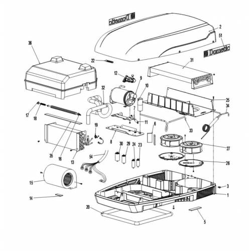 spare parts for the dometic b1600  b2200 parking air conditioner