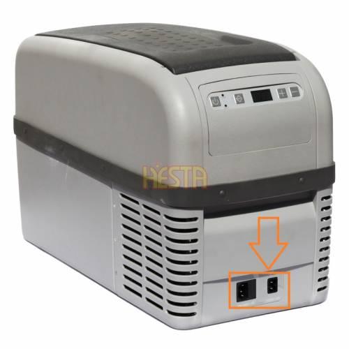 12 / 230V socket sticker for Dometic Waeco CF16 / 26 portable fridge