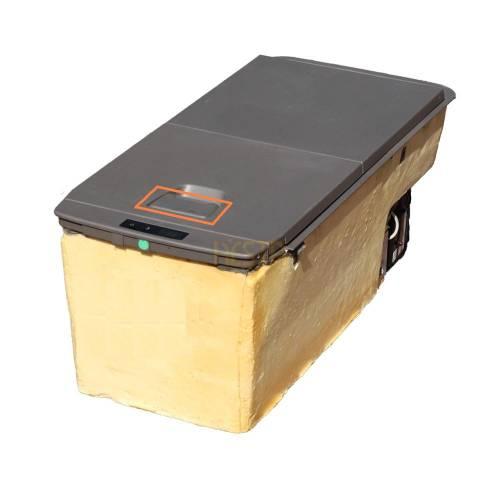 Lid latch plate, handle, door lock to Scania S 2034756, 2034757 Fridge