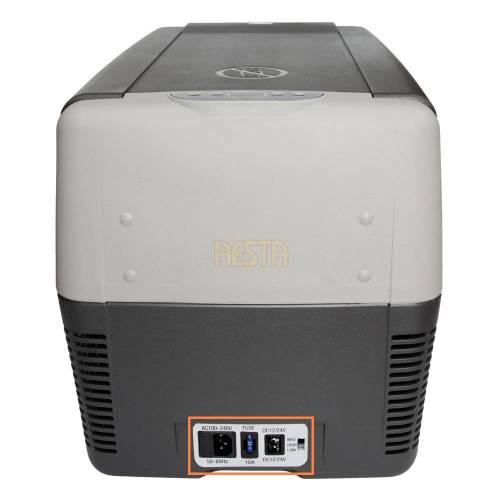 12 / 230V socket sticker for Indel B TB 31A, 41A, 51A portable fridge
