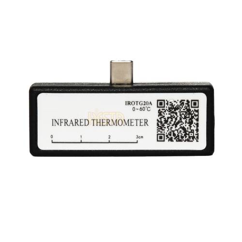 Non-contact, mobile infrared smartphone thermometer for temperature measurement