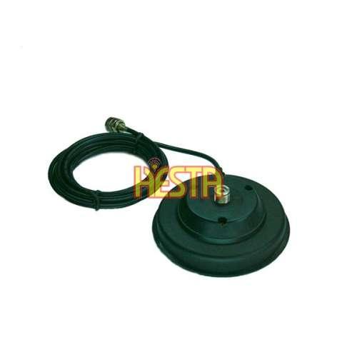 Magnetic base 120 PL to mobile antenna CB radio, KF, UHF on socket SO, UHF, UC-1