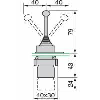 Przełącznik Joystick Manipulator 4 pozycje - monostabliny