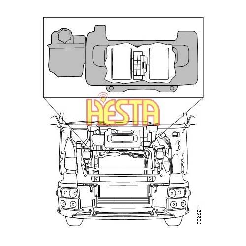 Wentylator Scania R - nadmuch Scania R 1854876