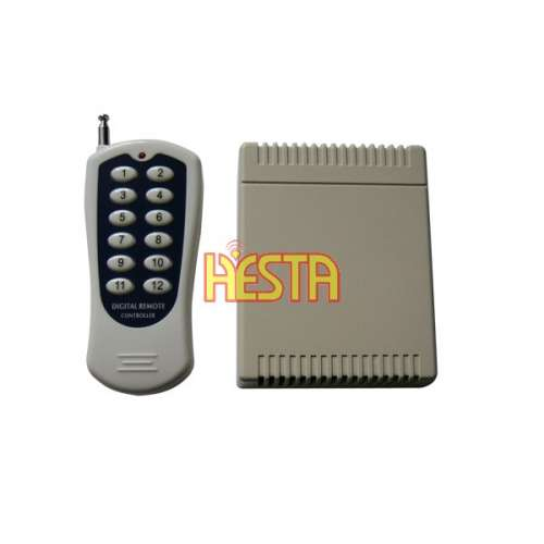 Receiver DC 12V 12CH Channel Wireless RF Remote Control Switch Transmitter