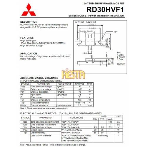 Mosfet Rf Power Amplifier