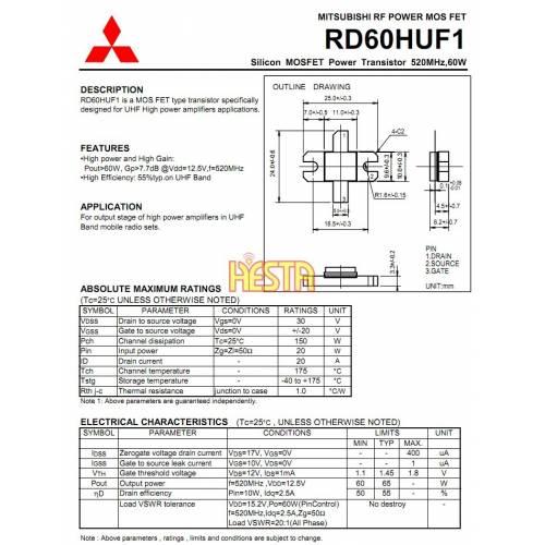 Końcówka mocy w.cz RD60HUF1