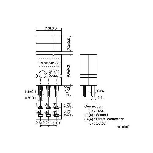Ceramic filter muRata 455,5kHz, type: SFZLA455KN2A