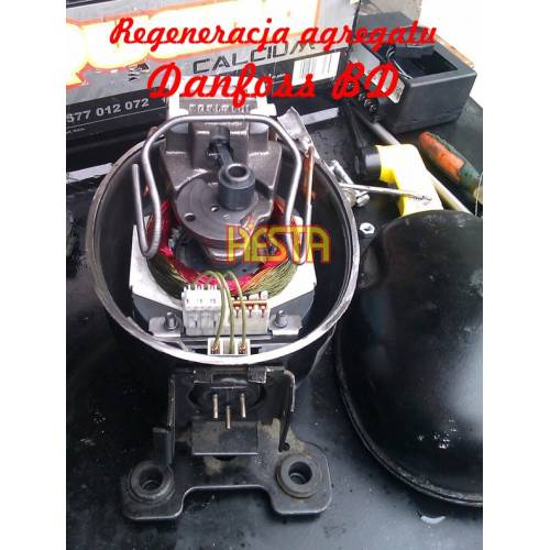 Repair - regeneration, commissioning of the unit, Danfoss BD refrigeration compressor