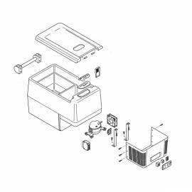 IndelB TB31a - Teile des Kompressor Kühlbox