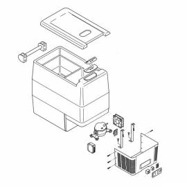 IndelB TB51a – spare parts to fridge